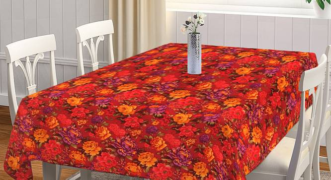 """Polly Table Cover (Red, 150 x 230 cm  (60"""" x 90"""") Size) by Urban Ladder - Front View Design 1 - 382983"""