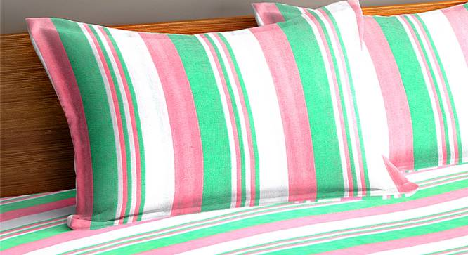 Sam Bedcover (Green, King Size) by Urban Ladder - Cross View Design 1 - 383038