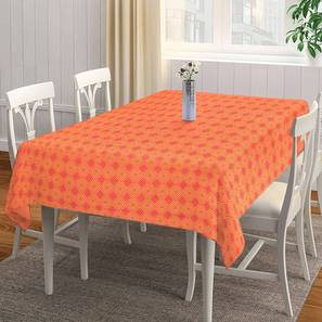 """Shayleigh Table Cover (Orange, 182 x 132 cm  (72"""" x 52"""") Size) by Urban Ladder - Front View Design 1 - 383073"""