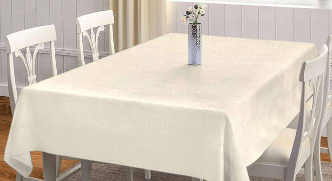 """Sigilla Table Cover (Off White, 182 x 132 cm  (72"""" x 52"""") Size) by Urban Ladder - Front View Design 1 - 383112"""