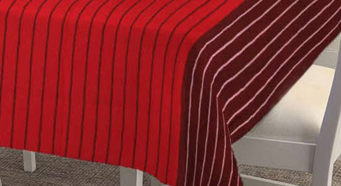 """Tien Table Cover (Maroon, 182 x 132 cm  (72"""" x 52"""") Size) by Urban Ladder - Cross View Design 1 - 383165"""