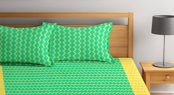 Toby Bedcover (Green, King Size) by Urban Ladder - Front View Design 1 - 383210