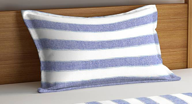Zoey Bedcover (Blue, Single Size) by Urban Ladder - Cross View Design 1 - 383294