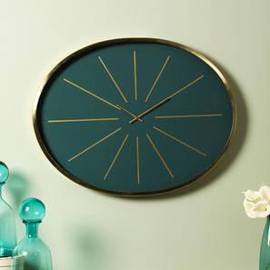 Florence wall clock  green golden lp