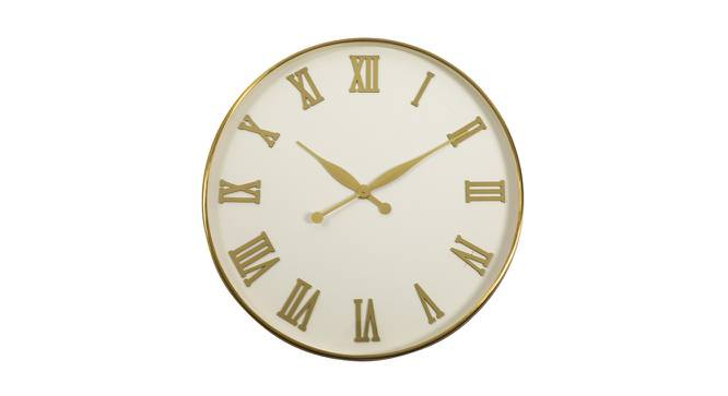 Clyde Wall Clock (Gold & White) by Urban Ladder - Front View Design 1 - 383343