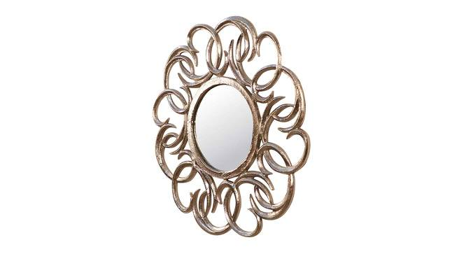 Catherine Wall Mirror (Silver, Round Mirror Shape, Simple Configuration) by Urban Ladder - Cross View Design 1 - 383349