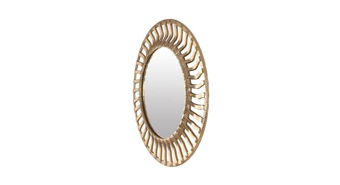 Adelaide Wall Mirror (Gold, Round Mirror Shape, Simple Configuration) by Urban Ladder - Cross View Design 1 - 383350