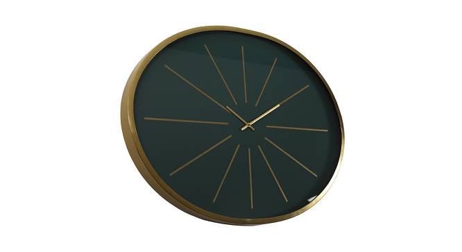 Florence Wall Clock (Gold & White) by Urban Ladder - Cross View Design 1 - 383361