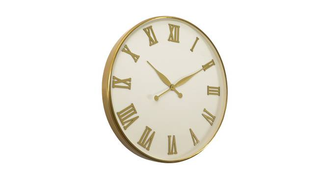 Clyde Wall Clock (Gold & White) by Urban Ladder - Cross View Design 1 - 383362