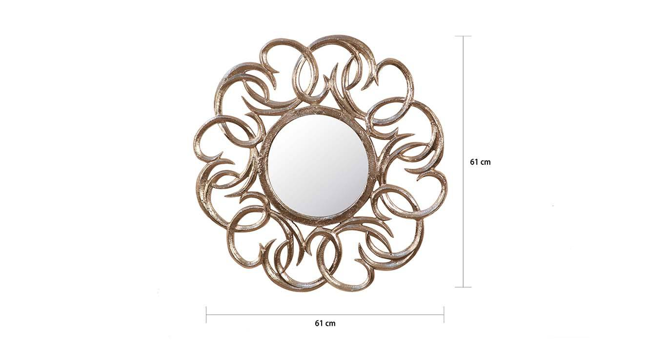 Catherine wall mirror  silver 6