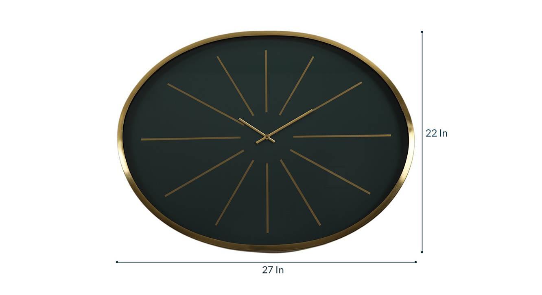 Florence wall clock  green golden 6