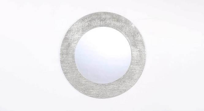 Helen Wall Mirror (Nickel, Round Mirror Shape, Simple Configuration) by Urban Ladder - Front View Design 1 - 383433