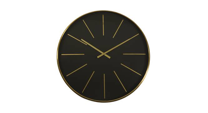Lee Wall Clock (Blue & Gold) by Urban Ladder - Front View Design 1 - 383441