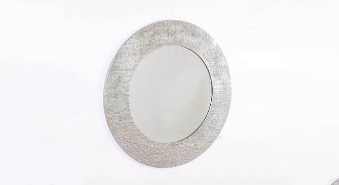 Helen Wall Mirror (Nickel, Round Mirror Shape, Simple Configuration) by Urban Ladder - Cross View Design 1 - 383454