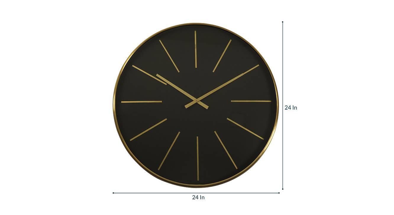 Lee wall clock  blue golden 6