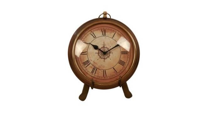 Roger Wall Clock (Golden Brass) by Urban Ladder - Front View Design 1 - 383541