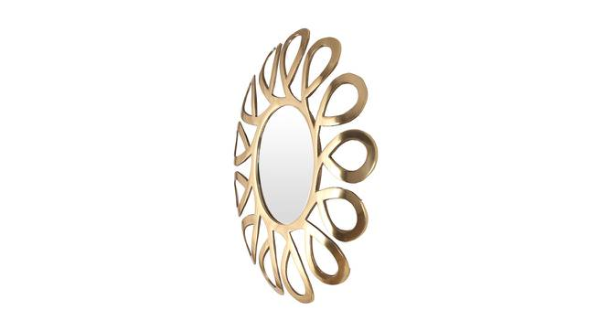 Russell Wall Mirror (Gold, Round Mirror Shape, Simple Configuration) by Urban Ladder - Cross View Design 1 - 383550
