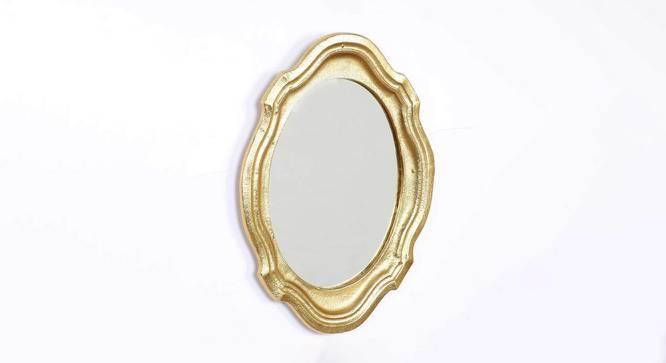 Warren Wall Mirror (Gold, Round Mirror Shape, Simple Configuration) by Urban Ladder - Cross View Design 1 - 383612