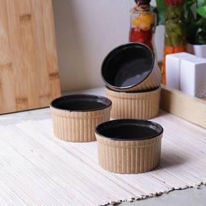 Birch Dessert Bowls (Brown) by Urban Ladder - Front View Design 1 - 383650
