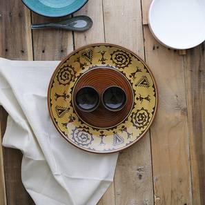 Eilon platter with attached bowl single brown lp
