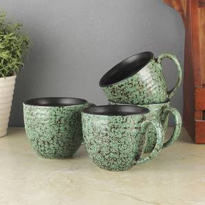 Kiri Cups Set of 6 (Green) by Urban Ladder - Front View Design 1 - 383758
