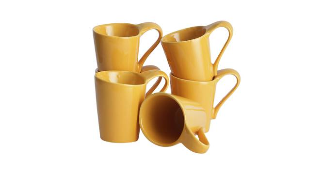 Hazal Cups Set of 6 (Yellow) by Urban Ladder - Front View Design 1 - 383749