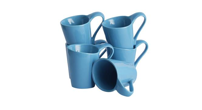 Hazal Cups Set of 6 (Blue) by Urban Ladder - Front View Design 1 - 383750