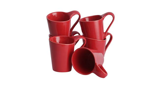 Hazal Cups Set of 6 (Red) by Urban Ladder - Front View Design 1 - 383752