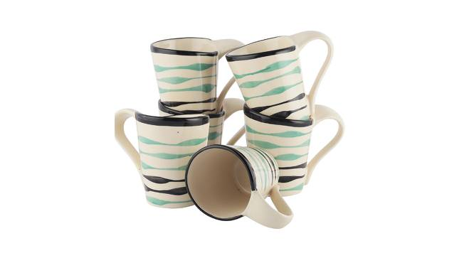 Javor Mugs Set of 6 (Off White) by Urban Ladder - Front View Design 1 - 383754