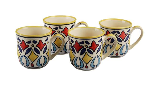 Hamilton Mugs Set of 4 by Urban Ladder - Design 1 Side View - 383766