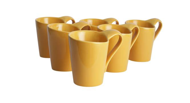 Hazal Cups Set of 6 (Yellow) by Urban Ladder - Design 1 Side View - 383767