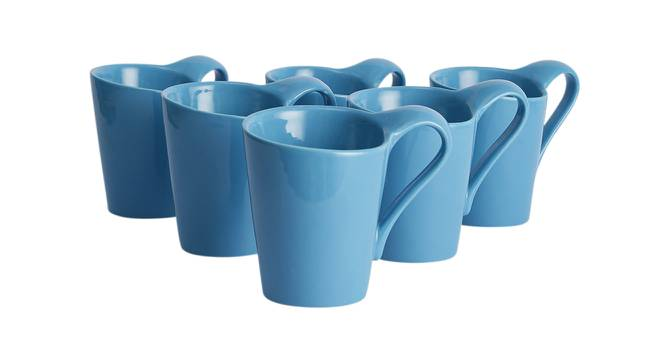Hazal Cups Set of 6 (Blue) by Urban Ladder - Design 1 Side View - 383768