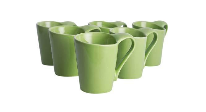 Hazal Cups Set of 6 (Green) by Urban Ladder - Design 1 Side View - 383769