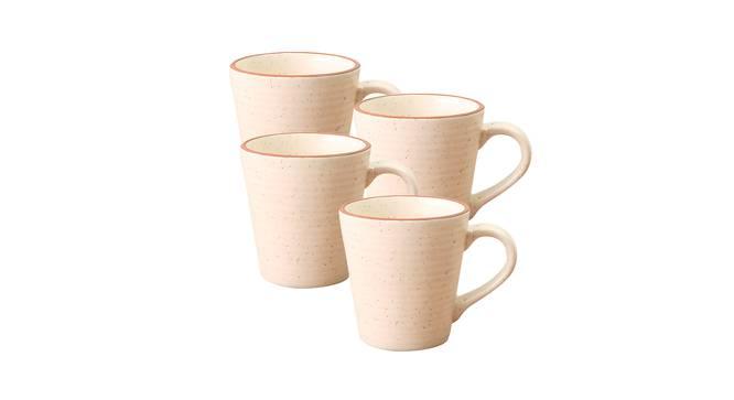 Leaf Mugs Set of 4 (White) by Urban Ladder - Design 1 Side View - 383781
