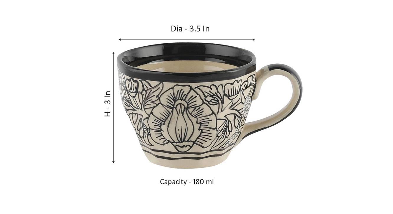 Laramie cups set of 4 off white 6