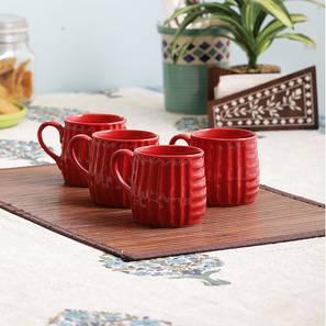 Nyssa mugs set of 4 red lp