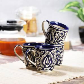 Ornella mugs set of 4 blue lp