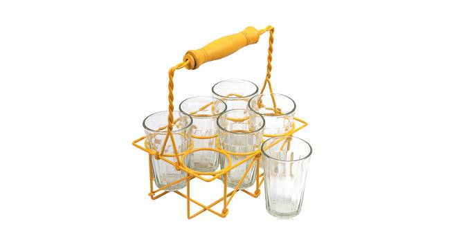 Mahogany Glasses Set of 6 (Yellow) by Urban Ladder - Front View Design 1 - 383839
