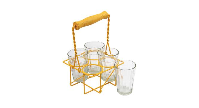 Malus Glasses Set of 4 (Yellow) by Urban Ladder - Front View Design 1 - 383840