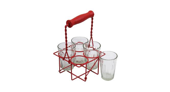 Manuka Glasses Set of 4 (Red) by Urban Ladder - Front View Design 1 - 383841
