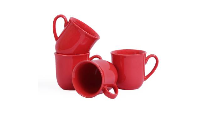 Nairne Cups Set of 4 (Red) by Urban Ladder - Front View Design 1 - 383845