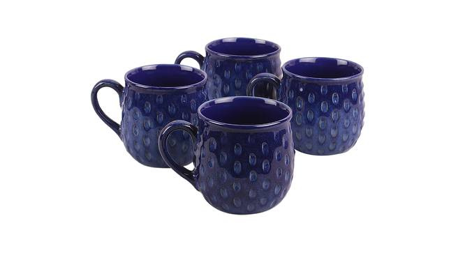 Noyce Mugs Set of 4 (Blue) by Urban Ladder - Front View Design 1 - 383848