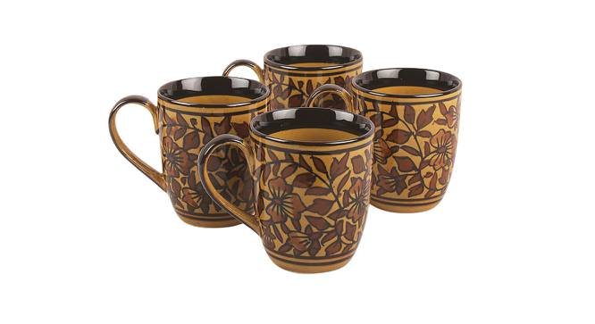 Olea Mugs Set of 4 (Brown) by Urban Ladder - Front View Design 1 - 383850