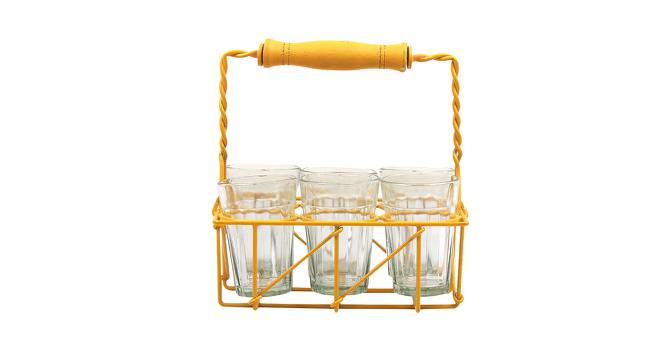 Mahogany Glasses Set of 6 (Yellow) by Urban Ladder - Design 1 Side View - 383856