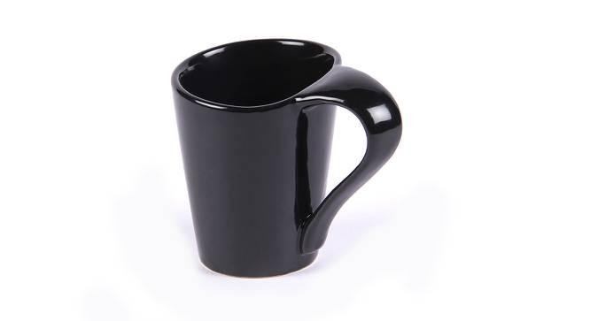 Mayo Mugs Set of 6 (Black) by Urban Ladder - Design 1 Side View - 383859