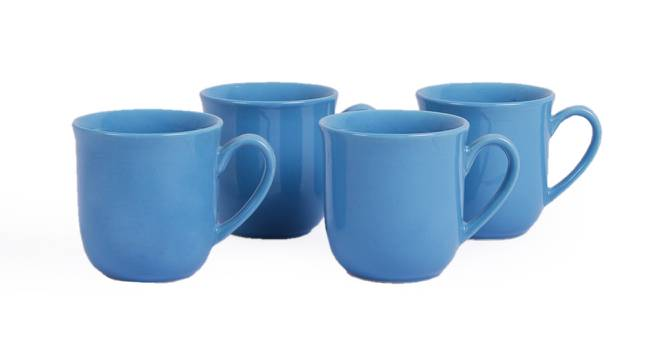 Naim Cups Set of 4 (Blue) by Urban Ladder - Design 1 Side View - 383860