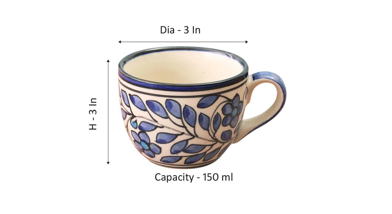 Linden cups set of 4 blue 6