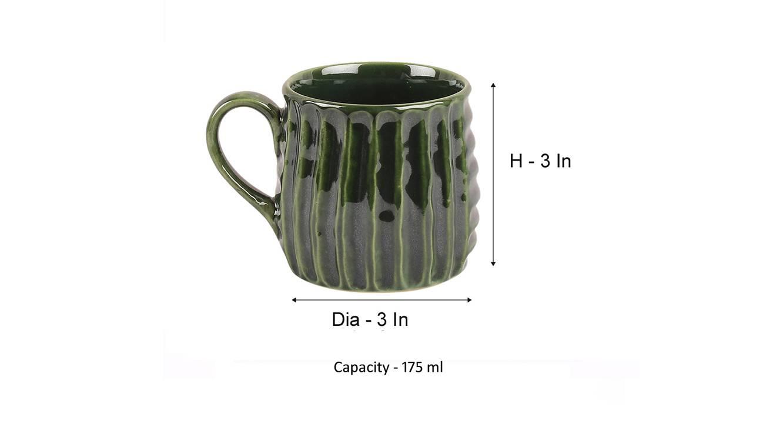 Nima mugs set of 4 green 6