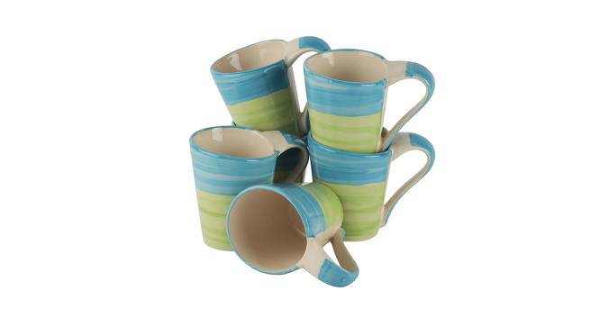 Park Mugs Set of 6 (Green) by Urban Ladder - Front View Design 1 - 383911