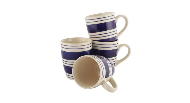 Perry Mugs Set of 6 (Blue) by Urban Ladder - Front View Design 1 - 383914